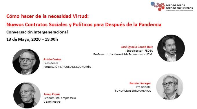 Debate Josep Piqué, Antón Costas y Ramón Jáuregui
